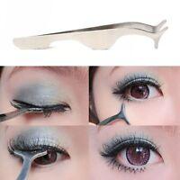 False Eyelashes Tweezer Extension Applicator Remover Clip Nipper Makeup Tool HY