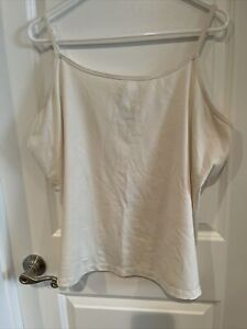 Lane Bryant Ivory Tank Top 18/20 Cami Style Adjustable Straps EUC