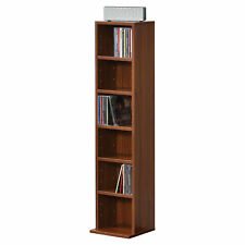 en.casa Bücherregal  CD Regal Standregal Regal Aufbewahrung 6 Fächer Walnuss