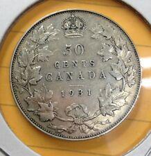 Canada - 50 Cents - 1931 - SILVER - NO TAX