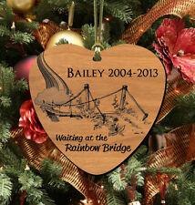 Rainbow Bridge, Pet Memorial Wooden Keepsake, Cat ~ Dog, Personalized FREE!