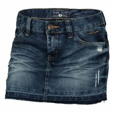 URBAN SURFACE Damen Jeansrock LUS-034 XS-XL Mini Jeans Rock kurz Destroyed Look