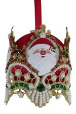 "SATIN BEADED CHRISTMAS ORNAMENT KIT - ""Special Night, Snowy White"""
