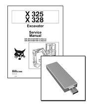 Bobcat X325 X328 Excavators Workshop Repair Service Manual USB Stick + Download