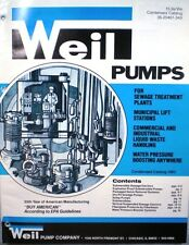 WEIL PUMP Company Sewage Ejector Pumps Catalog ASBESTOS Packing 1983