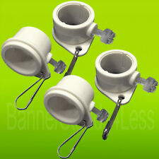 "4 Pcs Flagpole ROTATING CLIPS Fit 1"" Dia Flag Pole Tangle Free Mounting Rings wb"
