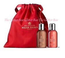 MOLTON BROWN Heavenly Gingerlily Suede Orris Bath Shower Gel 2 X 100ml & Bag