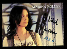 Marina Koller Autogrammkarte Original Signiert ## BC 106530