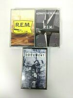 Lot of 3 REM Cassette Music Tapes Out of Time Document Automatic For The People