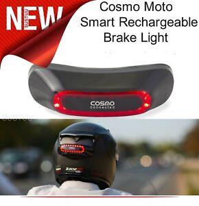 COSMO MOTO SMART RECHARGABLE HELMET BRAKE LIGHT SYSTEM WITH MOBILE APP BLACK