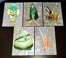 Alien World of Wayne Barlowe 1994 Prism  P2 P3 P4 P5 P6 promo card set Prism
