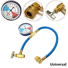 Car SUV Air Conditioning AC R124A Refrigerant Recharge Measuring Hose Gauge Kit