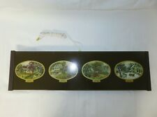 Vintage Jasco Currier & Ives Deluxe Electric Food Warming Tray 4 Seasons