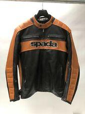 Spada Turismo Classic Retro Leather Motorcycle Motorbike Jacket black