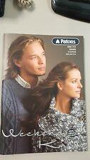 Patons Pattern Book #1252 Weekend Knits 14 Styles XXS to XL using Zhivago Yarn