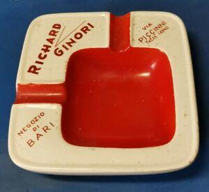 POSACENERE Richard Ginori Pubblicitario Vintage Ceramica Porcellana Bari d'epoca