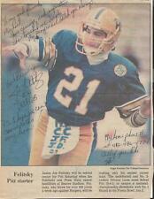 Joe Felitsky Signed 1986 Newspaper Photo Clipping Pitt Panthers
