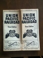 1939 Union Pacific Railroad Time Table Timetable Schedule Vintage Old Free Ship