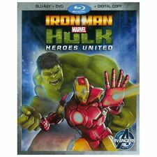 Iron Man Hulk: Heroes United (Blu-ray/DVD, 2013, 2-Disc Set) w/ Slipcover BIN