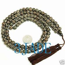 """36"""" Hand Carved Tibetan 108 Bone Prayer Beads Mala"""