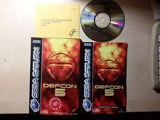 Juego DEFCON 5  [Consola SEGA SATURN]  -año 1995-  (Textos en Frances/Français)