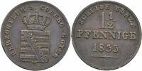 Sachsen Coburg Gotha Ernst I., 1826-1844 1 1/2 Pfennig 1835 #G49