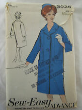 Vintage Advance 3026 LINED COAT and PILLBOX HAT Sewing Pattern Women Size 14