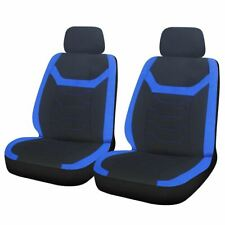 Blue Black Modern Look Pair Front Car Seat Covers for Honda CR-V 97-12