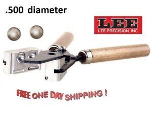 90452 Lee 2-Cavity Bullet Mold 500 Diameter Round Ball # 90452 New !