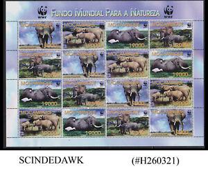 MOZAMBIQUE - 2002 WILD ANIMALS / WWF / ELEPHANTS - MIN. SHEET MINT NH