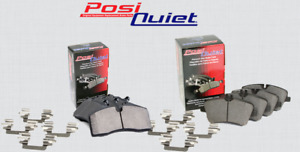 [FRONT + REAR SET] POSI QUIET Ceramic Brake Pads + Hardware Kit PQ18219