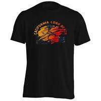 California Long Beach Sunset and Pacific Ocean Men's T-Shirt/Tank Top y194m