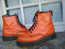 Vintage Dr. Martens Doc's Orange leather boots UK 7.5 Made in England Superb See