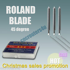 3PCS HQ ROLAND CUTTING PLOTTER BLADES 45°Bit Knife Tool For Vinyl Cutter