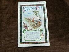 Old 1922 Postcard, True Friends for Aye, Scotland, Deer in Mountains