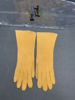 ATQ KAY FUCHE EXCLUSIVE 6.5 Made In France Gold Shade Kidskin Elbow Gloves