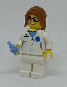 NEW GENUINE LEGO Doctor - EMT Nurse Minifigure 40358 City Town Mini Figure