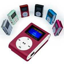 Mini MP3 Player Clip Reproductor LCD Metalico hasta 32Gb Micro SD Radio FM Vino