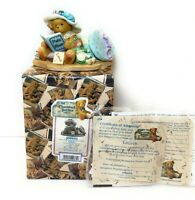 Cherished Teddies 308684 Lauren Girl W Doll Photo & Hat Box Memories Never Fade