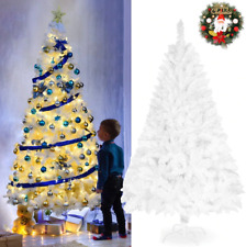Artificial PVC Christmas Tree With Stand Holiday Season Home Outdoor White