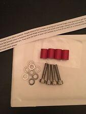 22mm Rosso Acciaio Inossidabile Cofano perturbatrici/Distanziatori CITROEN SAXO VTR VTS 1.1 DESIDERIO