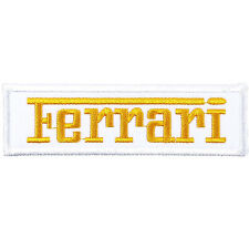 Ferrari Embroidered Patch Embroidery Motor Racing Emblem Mark 103x30mm WY