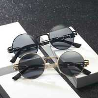 Steampunk Sunglasses Men Women Vintage Sunglass Metal Frame Round SunGlasses