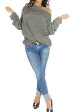 Maglie e camicie da donna verdi scollo a v , Taglia 42