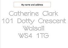 my name and address hand writing practice board wipe clean with pen