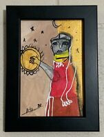 """PAINTING ORIGINAL ACRYLIC ON CANVAS PANEL (FRAME INCLUDED)4x6""""CUBAN ART by LISA."""