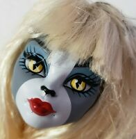 MONSTER HIGH DOLL FEARLEADING WERECAT MEOWLODY HEAD ONLY FOR REPLACEMENT OR OOAK