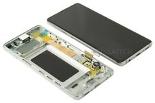 Original Samsung SM-G973F Galaxy S10 Display LCD Touchscreen + Rahmen Prism Weiß
