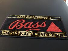 Vintage Bass Ale On Draught Brewers Of Fine Ales Since 1777 Bar Towel!