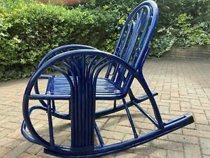 Colonial Style Bamboo Rocking Chair